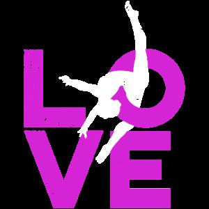 Liebes-Gymnastikgraphik, Gymnastdruck, stürzend