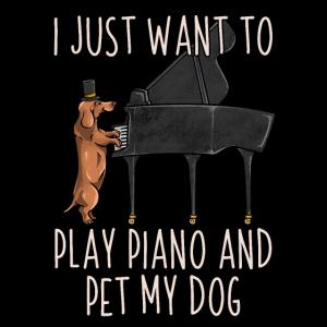Ich möchte nur Klavier spielen und meinen Hund streicheln - Pianist