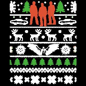 Hässliches Weihnachtsbaum-Muskel-Auto-Ren