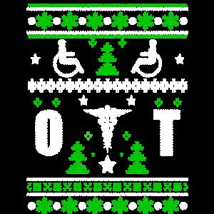 Hässliche Weihnachtsbehinderte Zeichen-Baum-Schneeflocken