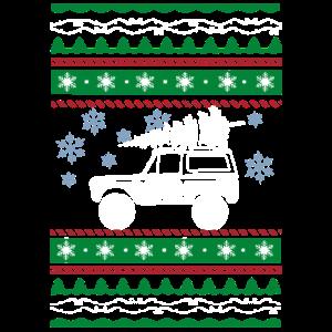 Hässlicher Weihnachtsbaum-Schneeflocke-LKW