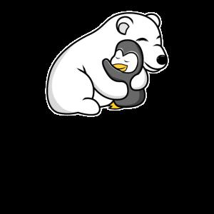 Eisbär Pinguin Liebe Tierliebhaber