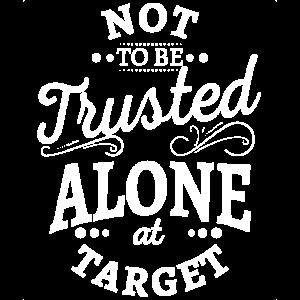 Nicht allein am Ziel-T-Shirt zu trauen