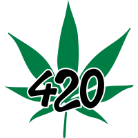 420 with leaf