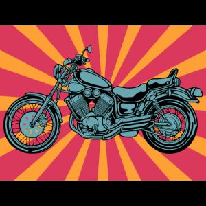 Motorrad retro Farben