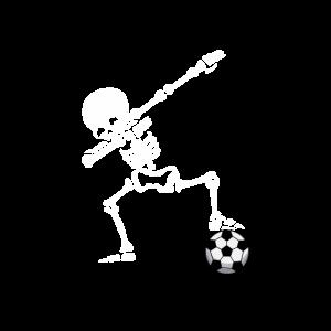 Skelett Fussball Fussballer Junge Kinder Geschenk