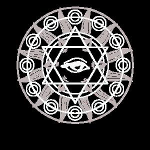 All Seeing Eye Mandala Sacred Geometry