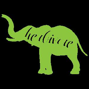 Elefant Vegan Fleischfrei Geschenk