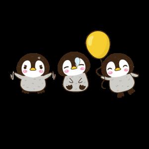 baby geschenk pinguin trio ballon süß niedlich