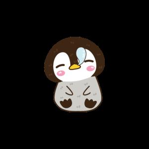 Süßer Baby Pinguin schlafen müde niedlich