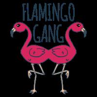 lustiges Mallorca Gruppen T-Shirt | Flamingo Gang