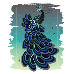 Blauer Pfau Pfauvogel Tropenvogel