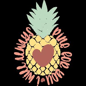 Ananas, Frucht, Obst, Sommer, Liebeserklärung