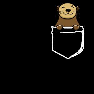 Otter in Tasche Otter Liebhaber