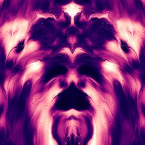 abstrakt psychedelisch Farbverlauf Geist Poster
