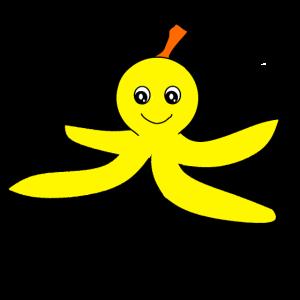 Oktupus Bananne Lustiges Geschenk fuer Kinder
