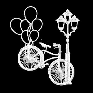 Fahrrad Luftballons Laterne