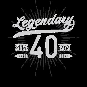 Geburtstag 40 Shirt Legendär Seit 1979