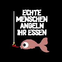 echte menschen angeln ihr essen