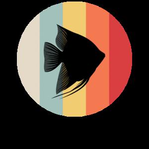 Retro Fisch Aquarium Aquarianer Diskus