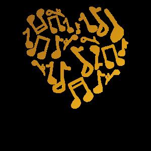 Musik Liebe Musiknoten Geschenk Geschenkidee Gift