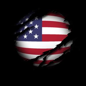 Die Vereinigten Staaten von Amerika im Herzen USA