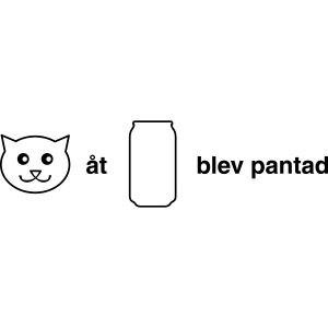 Katt åt burk