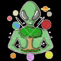 Alien Baum des Lebens UFO Außerirdischer Geschenk