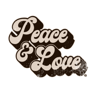 Peace and Love brown