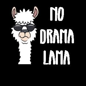 Alpaka Lustiges No Drama Lama Geschenk