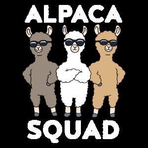 Alpaka Lustiges Alpaca Squad Lama Geschenk