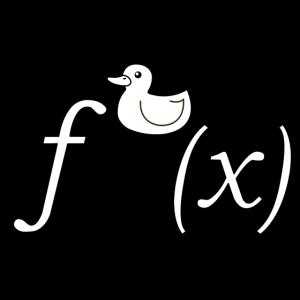 Ente Ableitung Mathe Witz (SW, ohne Text)