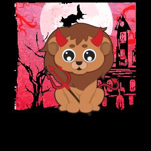 Niedlicher Löwe Halloween