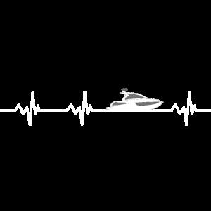 Herzschlag Motorboot