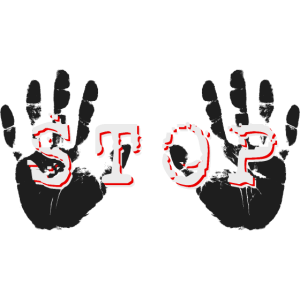 STOPP HALT STOP HÄNDE