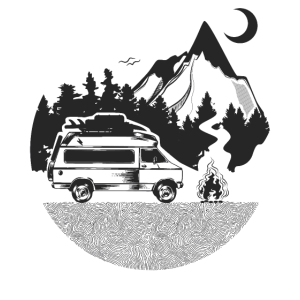 Camper Tshirt Classiv Van Camper Herren Damen: Cla
