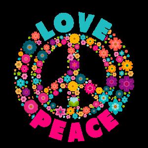 Love Peace Hippi Shirt Hippie Flower Power