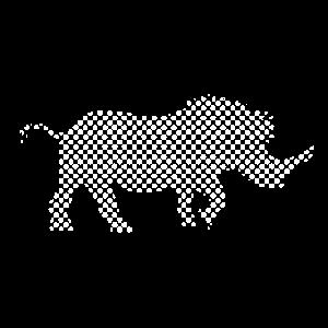 rhinoceros nashorn tier muster punkte geschenkidee
