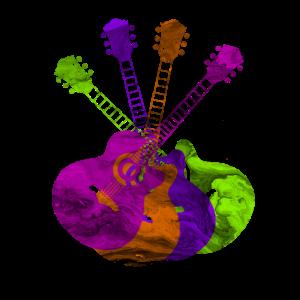Guitars bunte Gitarren Musik Instrumente