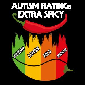 autism rating extra scharf kraut lemon mild medium