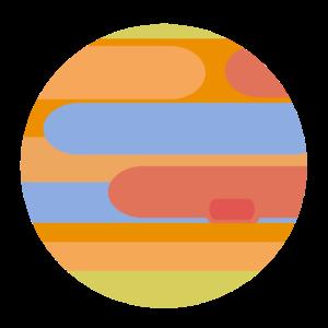 Planet Jupiter Minimalistisch