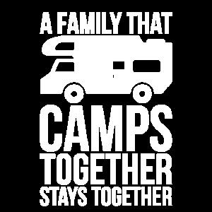 Eine Familie, die zusammen Lager aufschlägt