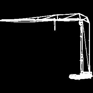 Faltkran aufgebaut weiß Kran crane