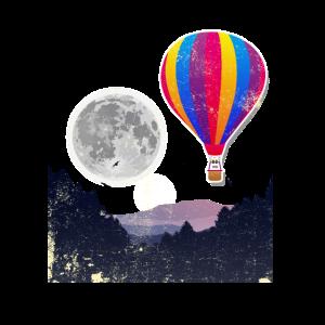Heißluft-Ballon-Mond-Himmel-Sauerstoff-Ereignis-Party-Geschenk