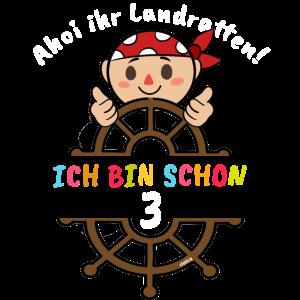 Geburtstag 3 Jahre Piraten Drei