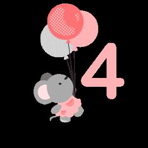 Geburtstag 4 Jahre Maus Vier
