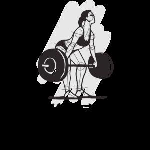 sweat is pretty Gym Frauen Fitness Gewichte Squat
