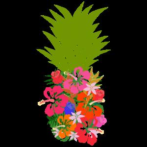 Hawaii Ananas Blume Tropisch Sommer Surfen Meer