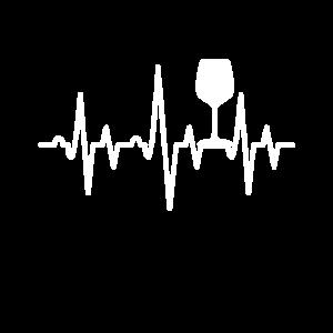 Wein Liebhaber Heartbeat Geschenk EKG Herzklopfen