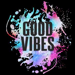 GOOD-VIBES mit Farbklecks - super für den Sommer